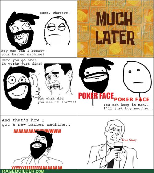poker face shaving beards - 6550571776