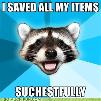 chest,items,Lame Pun Coon,saving,similar sounding,successfully
