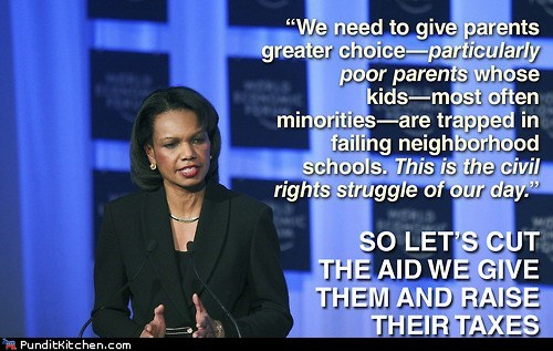 aid,Condoleezza Rice,cut,rnc,speech,taxes