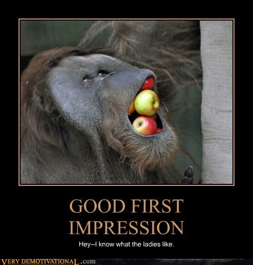 first impressino,oh yeah,apples,baboon