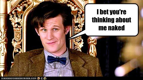 doctor who,Matt Smith,the doctor,thinking about me,dirty thoughts