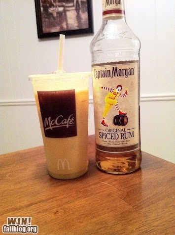 bad idea McDonald's Rum funny cocktail - 6551111424