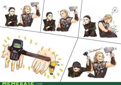 animation,Close Enough,comic,hammer,loki,nokia,Thor