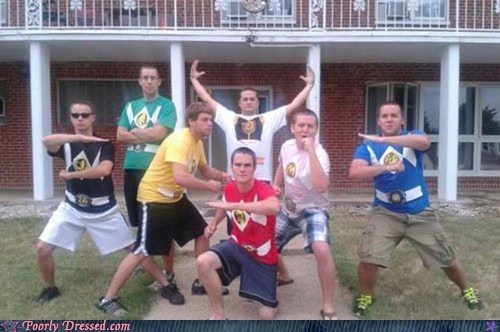 frat boys,power rangers