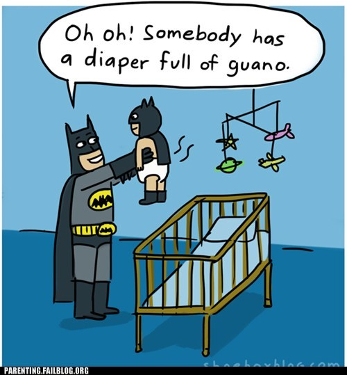 baby,batman,comic,guano