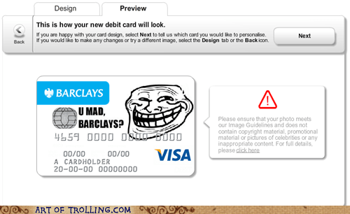 debit card troll face visa - 6551953152