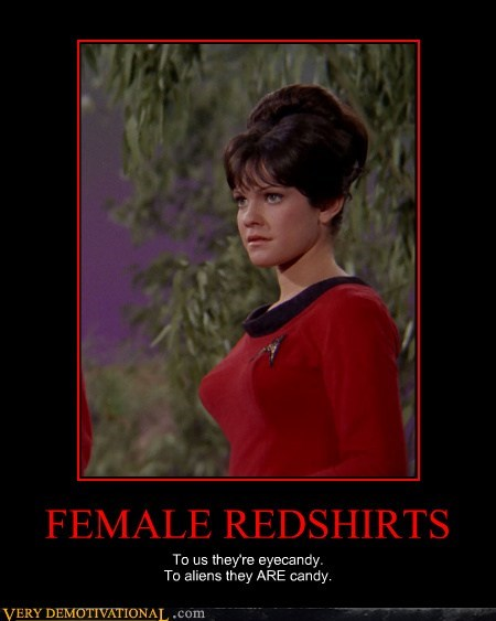 female redshirt Star Trek