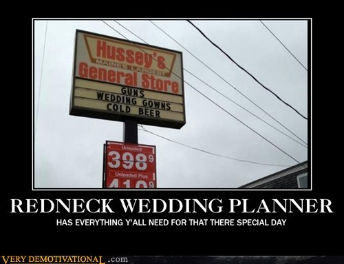 guns redneck wedding