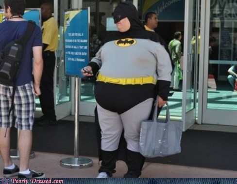batman,obese,shopping