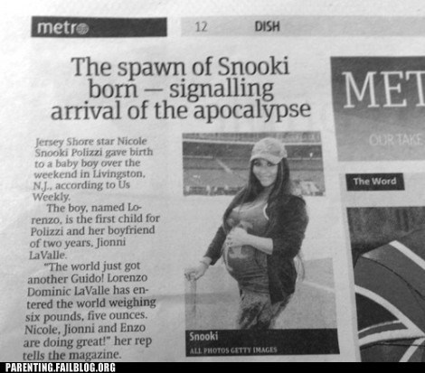 apocalypse,newspaper,snooki