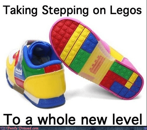 legos,shoes