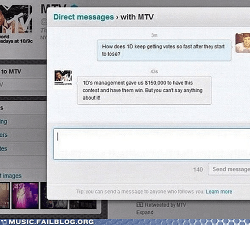 mtv one direction rigged contest
