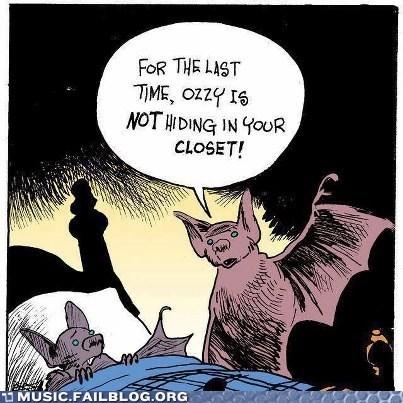 bats comic Ozzy Osbourne - 6552089344