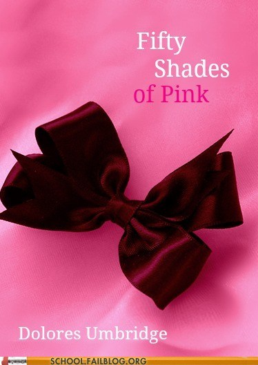 bargain books,dolores umbridge,fifty shades of pin