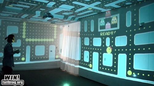 3d nerdgasm pac man projection video games - 6552167424