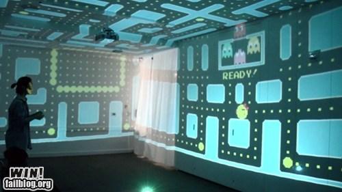 3d nerdgasm pac man projection video games - 6552167424