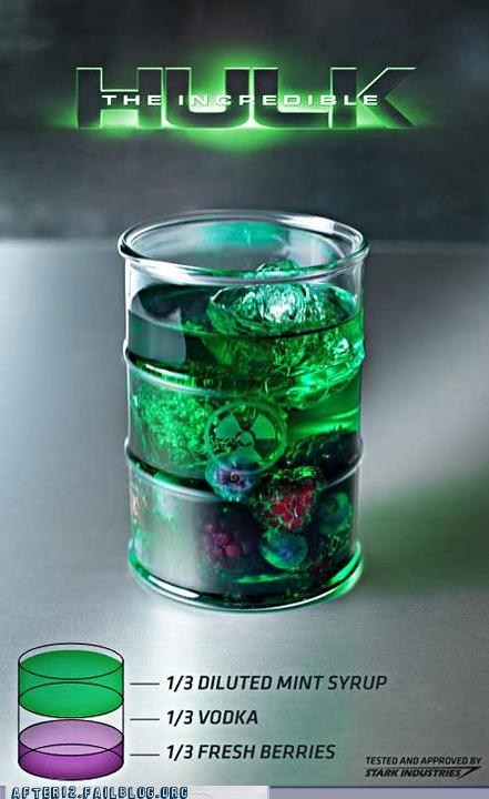 Early Morning Happy Hour hulk mint syrup the incredible hulk - 6552265984