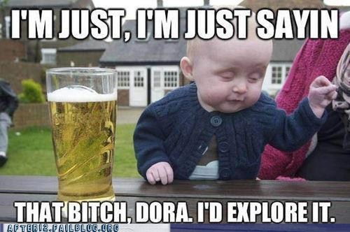 dora,drunk baby meme,id-explore-it