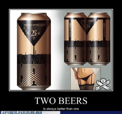 cans crafty beer can legs two beers is better than two beers is better than one - 6552296448