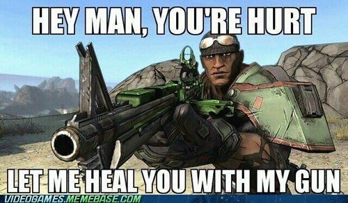borderlands,shooting health,video game logic