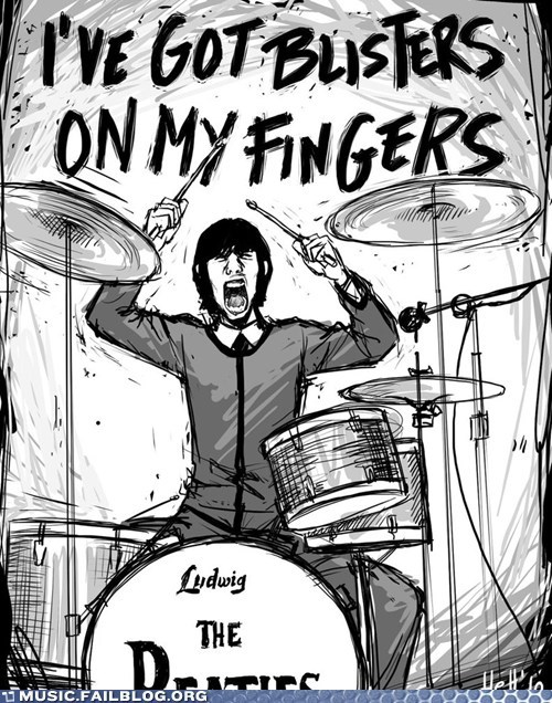 blisters helter skelter Ringo the Beatles