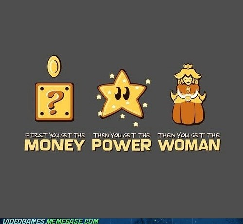 mario,money,peach,power,star,women