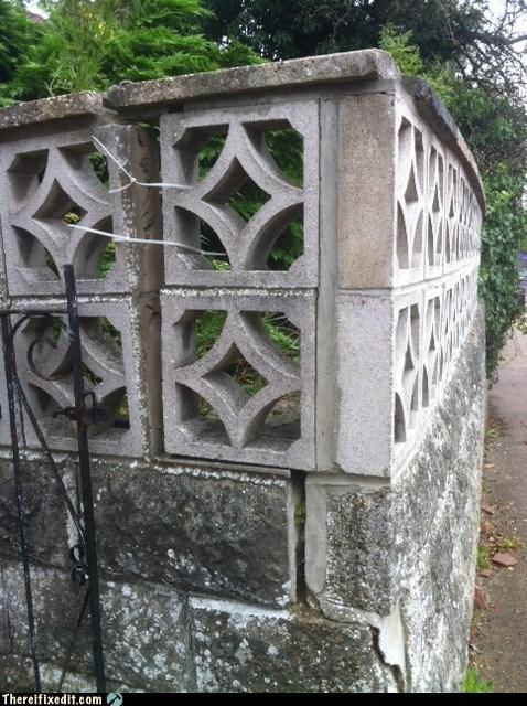 block wall,cinder block,cinder block wall,wonky wall