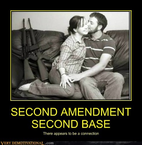 guns kissing second amendment second base - 6552560896