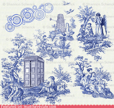 doctor who fabric pattern toile - 6552612864