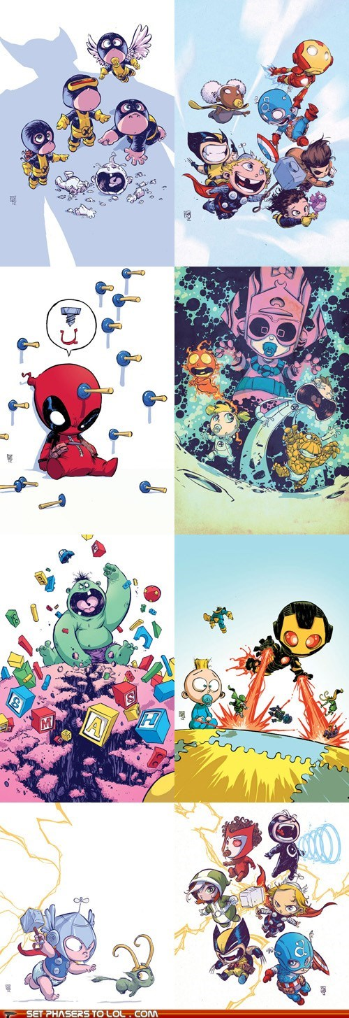 avengers,Babies,comics,deadpool,Fan Art,galactus,marvel,superheroes,x men