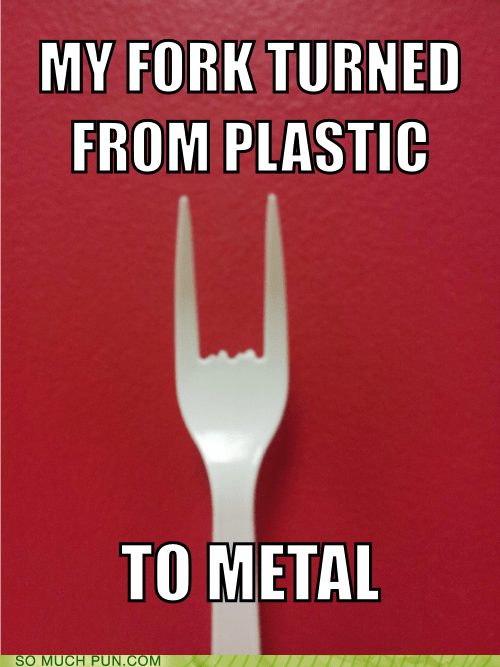 double meaning,fork,metal,plastic,symbol,symbolism,transformation