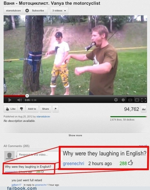 facepalm failbook youtube comments - 6552773120
