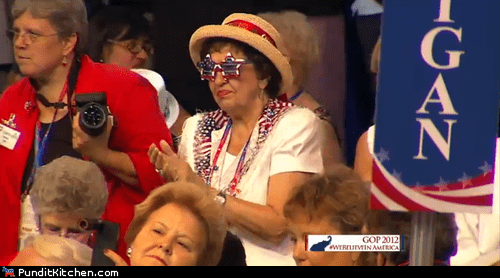 america,awesome,costume,dancing,glasses,rnc
