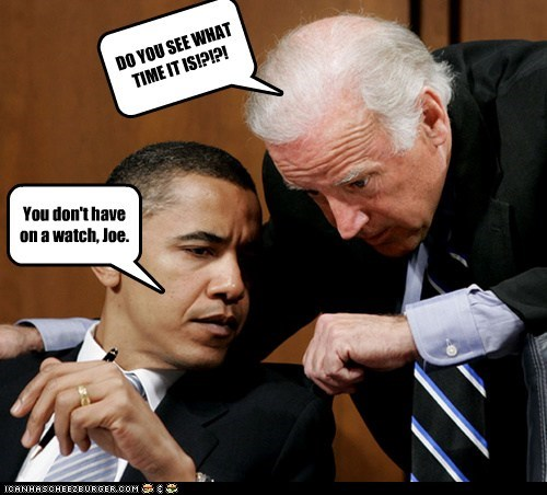 barack obama,confused,joe biden,time,watch,what time is it
