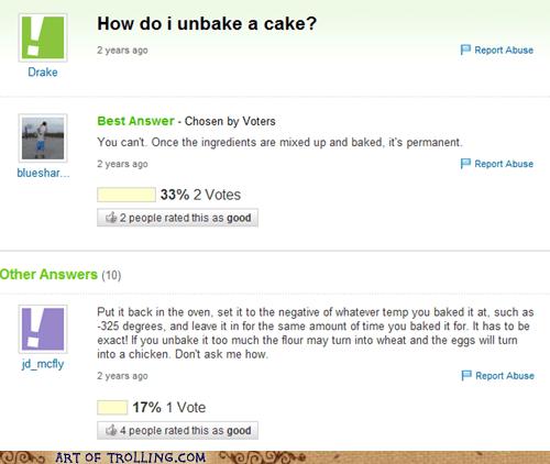 baking unbake a cake yahoo answers - 6553002752