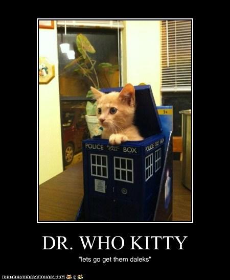"DR. WHO KITTY ""lets go get them daleks"""