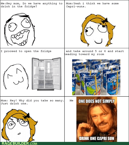 capri sun one does not simply moms parenting