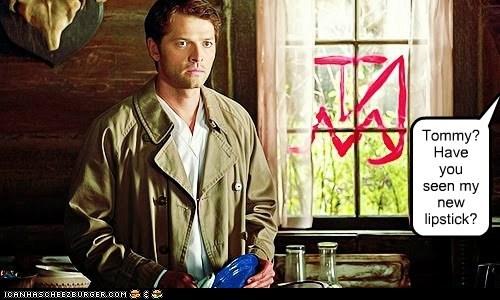 misha collins Catiel lipstick drawing guilty Supernatural - 6553045504
