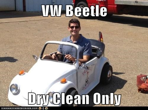 dry clean only paul ryan shrunk small smiling VW bug - 6553086464
