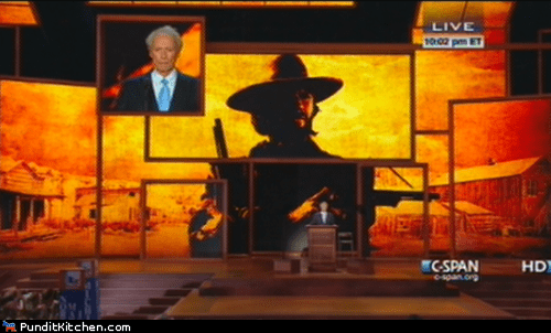 Clint Eastwood,cool,cowboy,rnc,speech