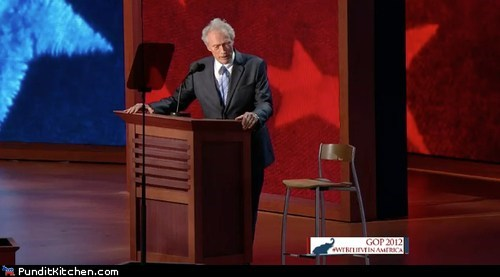 Awkward,Clint Eastwood,empty chair,rnc