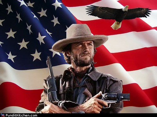 america Clint Eastwood eagle flag merica right now rnc - 6553136128