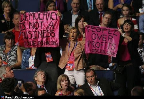 democracy,Mitt Romney,Protest,rnc,tacky