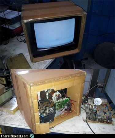 cardboard TV tv box tv set - 6553428736