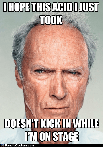 acid Clint Eastwood hallucination high kicked in rnc speech Stage - 6553513728