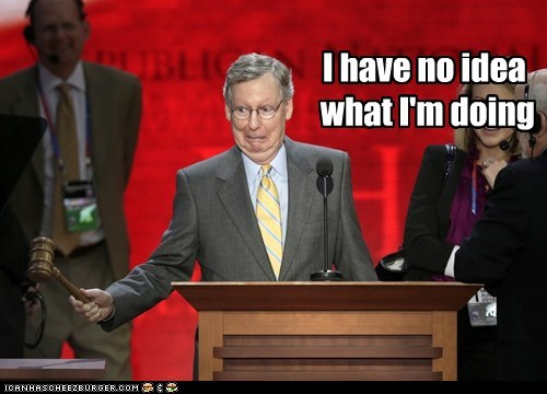 derp face gavel i have no idea what im doing mitch mcconnell nervous rnc - 6553592832