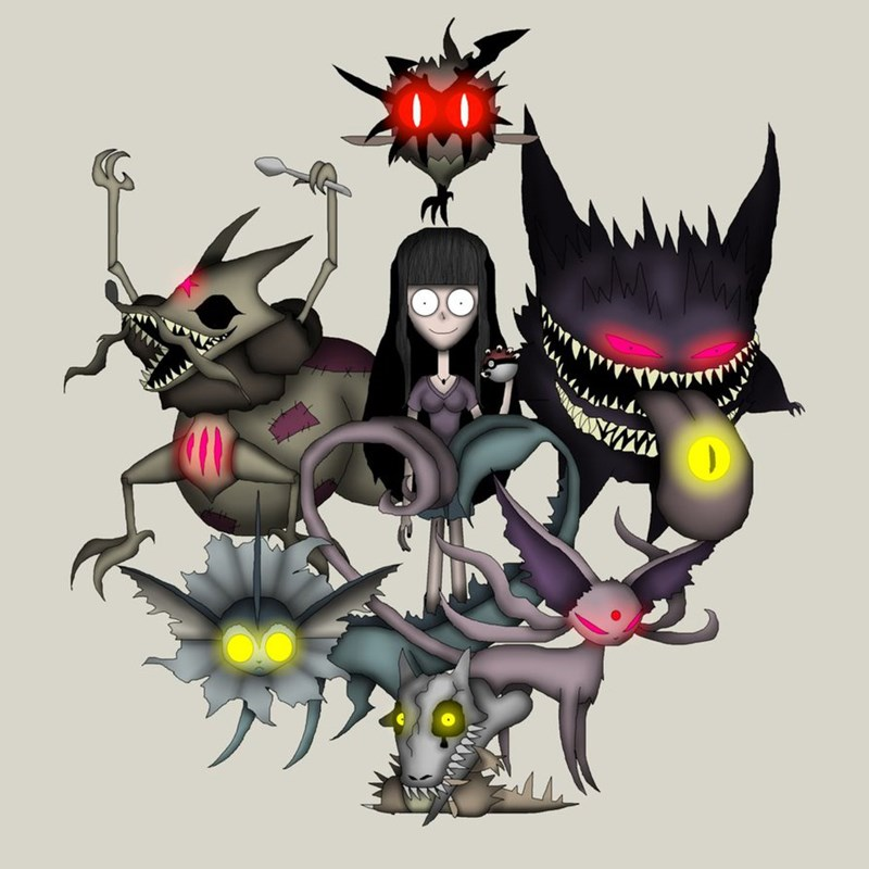 Pokémon list Fan Art tim burton - 655365