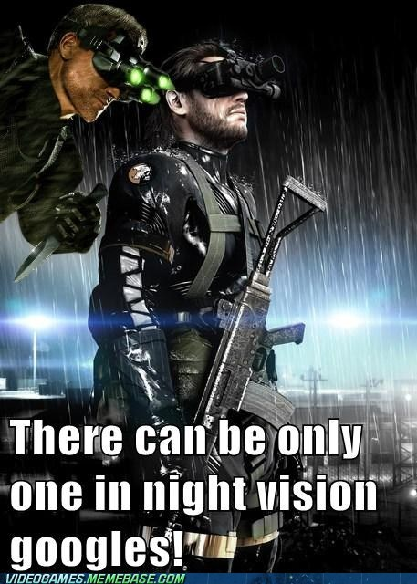 metal gear solid,night vision,Sam Fisher,Splinter Cell