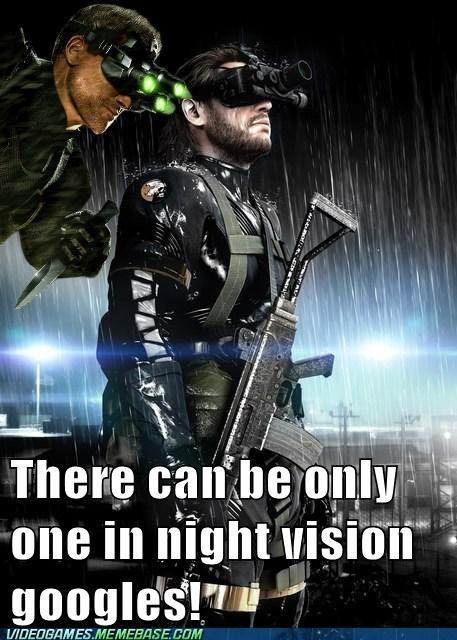 metal gear solid night vision Sam Fisher Splinter Cell - 6553796352