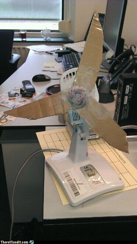 cardboard,desk fan,fan,fan blades